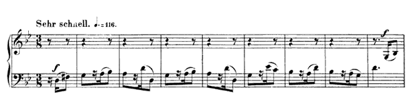 Gigue Op. 32 No. 2  in G Minor by Schumann piano sheet music