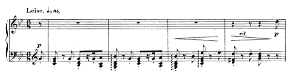 Fughetta Op. 32 No. 4  in G Minor by Schumann piano sheet music