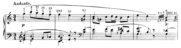 Caprice Op. 3 No. 3  in C Major by Schumann piano sheet music