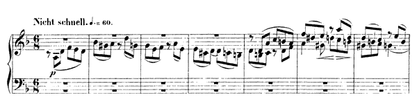 Fugue 1 Op. 72 No. 1  in D Minor by Schumann piano sheet music