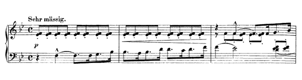 March Op. 76 No. 3  in B-flat Major by Schumann piano sheet music