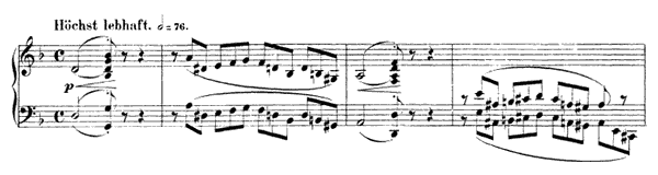 Jäger auf der Lauer Op. 82 No. 2  in D Minor by Schumann piano sheet music