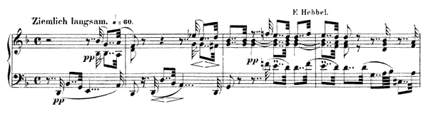 Verrufene Stelle  Op. 82 No. 4  in D Minor by Schumann piano sheet music