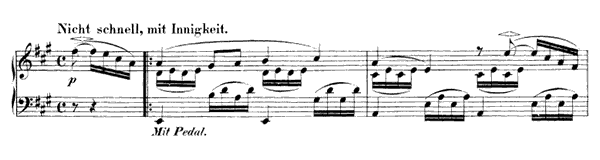 Piece I Op. 99 No. 1  in A Major by Schumann piano sheet music