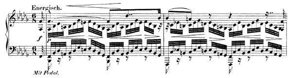 Prelude Op. 99 No. 10  in B-flat Minor by Schumann piano sheet music