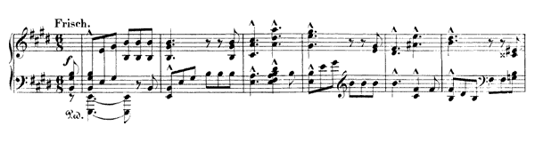 Piece III Op. 99 No. 3  in E Major by Schumann piano sheet music