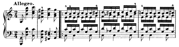 Toccata Op. 7  in C Major by Schumann piano sheet music
