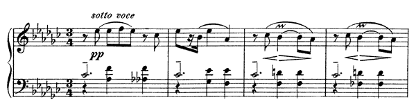 Mazurka Op. 3 No. 10  in E-flat Minor by Scriabin piano sheet music