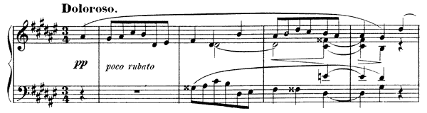 Mazurka Op. 3 No. 5  in D-sharp Minor by Scriabin piano sheet music