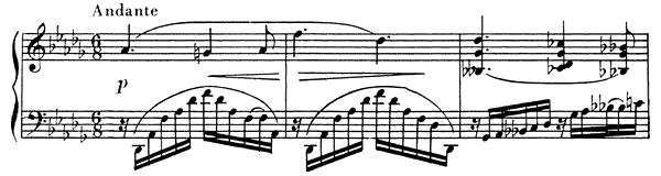 Nocturne (for the Left Hand) Op. 9 No. 2  in D-flat Major by Scriabin piano sheet music