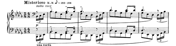 Prelude Op. 11 No. 16  in B-flat Minor by Scriabin piano sheet music