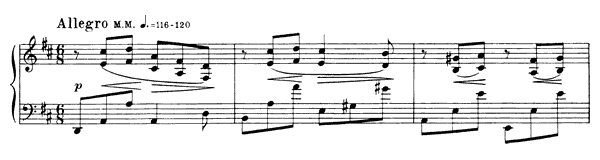 Prelude Op. 13 No. 5  in D Major by Scriabin piano sheet music