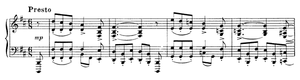 Prelude Op. 13 No. 6  in B Minor by Scriabin piano sheet music