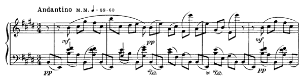 Prelude Op. 15 No. 4  in E Major by Scriabin piano sheet music