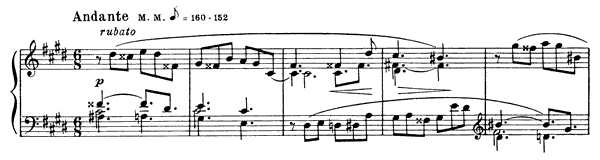 Prelude Op. 15 No. 5  in C-sharp Minor by Scriabin piano sheet music