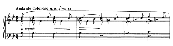 Prelude Op. 17 No. 6  in B-flat Major by Scriabin piano sheet music
