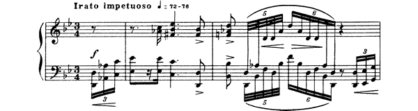 Prelude Op. 37 No. 4  in G Minor by Scriabin piano sheet music