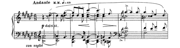 piano sheet music of Sonata 4