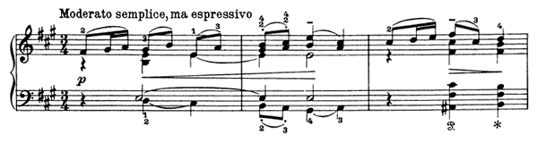 January - By the Fireside Op. 37 No. 1  in A Major by Tchaikovsky piano sheet music
