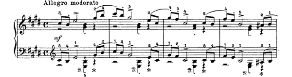 November - In the Troika Op. 37 No. 11  in E Major by Tchaikovsky piano sheet music