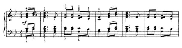 The Peasant Plays an Introduction Op. 39 No. 13  in B-flat Major by Tchaikovsky piano sheet music