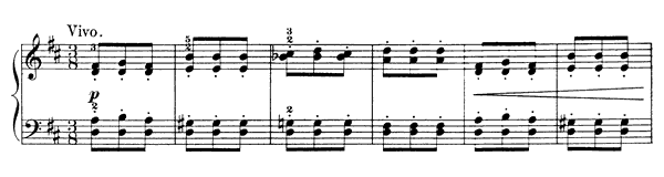 The Little Horseman Op. 39 No. 4  in D Major by Tchaikovsky piano sheet music