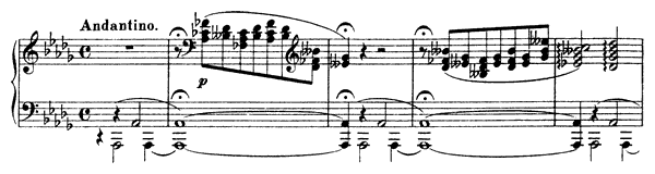 Harmonies du Soir  No. 11  in D-flat Major by Liszt piano sheet music