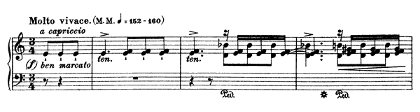 Etude in A Minor  No. 2  in A Minor by Liszt piano sheet music