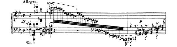 Eroica  No. 7  in E-flat Major by Liszt piano sheet music