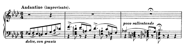 Ricordanza  No. 9  in A-flat Major by Liszt piano sheet music