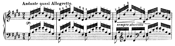Etude in E Major  No. 4  in E Major by Liszt piano sheet music