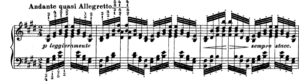 Etude in E Major (version 2)  No. 4  in E Major by Liszt piano sheet music