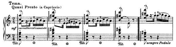 Theme and Variations  No. 6  in A Minor by Liszt piano sheet music