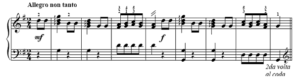 Youthfully Alert  No. 38  in G Major by Türk piano sheet music