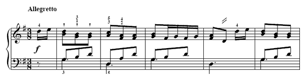 The Leaping Dancer  No. 42  in G Major by Türk piano sheet music