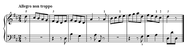Scales  No. 6  in D Major by Türk piano sheet music