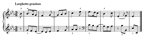 Ties  No. 12  in E-flat Major by Türk piano sheet music