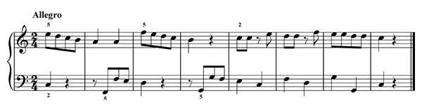 Quaver Rests  No. 3  in C Major by Türk piano sheet music